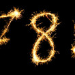 Stock Photo: Real Sparkler Digits. See other digits in my portfolio. 6 7 8 9