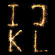 Real Sparkler Alphabet. See other letters in my portfolio. — Stock Photo