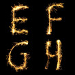 Real Sparkler Alphabet. See other letters in my portfolio. — Stock Photo #7805260