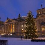 Reichstag weihnachten berlin — Stock Photo #7681263