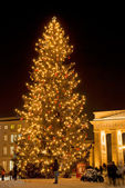 Christmas tree brandenburger tor — Stock Photo