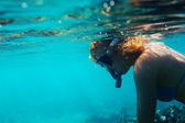 Chica de buceo — Foto de Stock