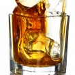 Splashes of whiskey — Stock Photo