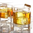 Glasses with cold whiskey - Stock Photo