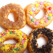 Stock Photo: Tasty colorful donuts