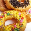 Tasty colorful donuts — Stock Photo