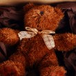 Cute Teddy Bear in box — Stock Photo #6764115
