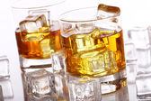 Glasses with cold whiskey — Stock fotografie