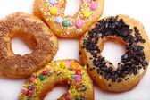 Smakelijke kleurrijke donuts — Stockfoto