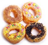 Tasty colorful donuts — Stock fotografie