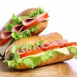 Fresh and tasty sandwich — Stock Photo #6882343