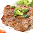 Tasty steak with vegetables — Stock Photo