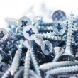 Close up of screws - Stock Photo
