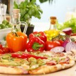 Fresh and tasty pizza — Stok fotoğraf