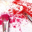 Crumbled colorful eyeshadow — Stock Photo