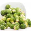 Brussels sprouts in the plate — Stock fotografie