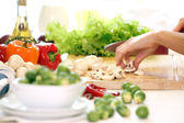 Alimentos sanos en la mesa — Foto de Stock