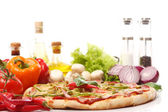 Fresh and tasty pizza — Stock Photo