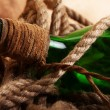 Old bottle and rope — Foto de Stock