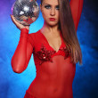 Stock Photo: Sexy dancer in red