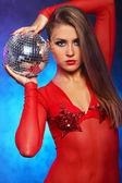 Seksowny tancerz w kolorze czerwonym — Zdjęcie stockowe
