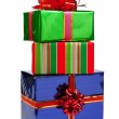 Gifts in colorful packages with bows. — Stock Photo #7406115