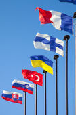 Flags of different countries — Stock Photo