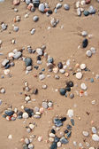 Sand and stone pebbles. — Stock Photo
