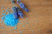 Flowers lavender bath salt — Stock Photo