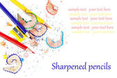 Sharpened colored pencils — Stockfoto