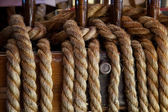 Ropes control the sails — Stock Photo