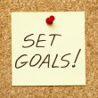 Stock Photo: SET GOALS! on cork board