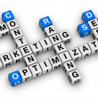 Website marketing crossword — Stock Photo