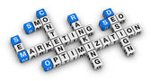 Website marketing crossword — Stock Photo
