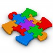 Colorful jigsaw piece — Stock Photo