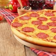 Foto Stock: Pizzon table