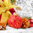 Stock Photo: Decorations with gift box