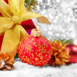 Decorations with gift box — Stock Photo #7483858