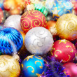 Stock Photo: Christmas balls pile