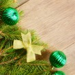 Stock Photo: Christmas decoration border