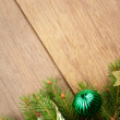 Christmas decoration border — Stock Photo