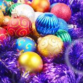 Kerstballen stapel — Stockfoto