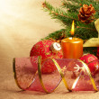 Gift box with christmas decorations — Stock Photo #7717178