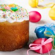 Easter eggs and cake — Stock Photo #7717960