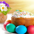 Easter eggs and cake — Stock Photo #7946196