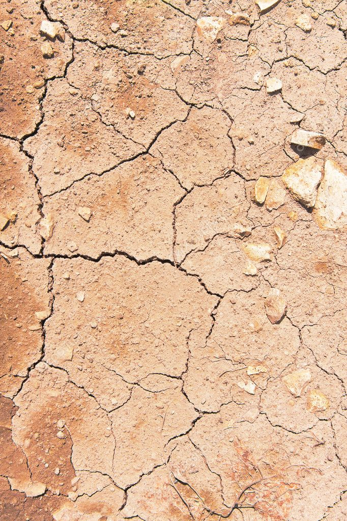 Cracks on dry surface of the ground — Stock Photo #7497764