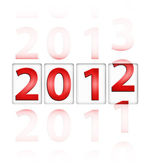 Changing year from 2011 to 2012 — Stock Photo