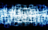 Blue squares with outer glowing — Stock Photo