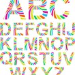 Full funny rainbow alphabet. — Stock Vector