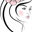 Stock Vector: Beauty woman face. design elements.